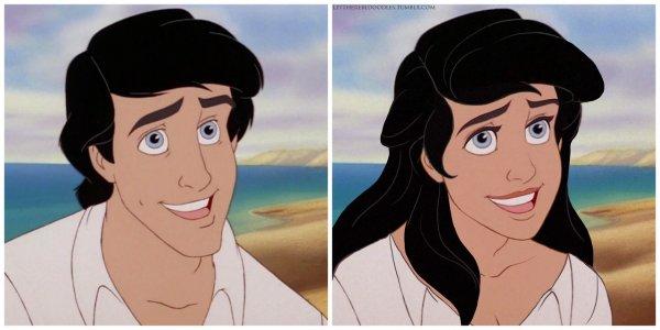 闲的_疼:艺术家把迪斯尼动画中的王子改成娘炮