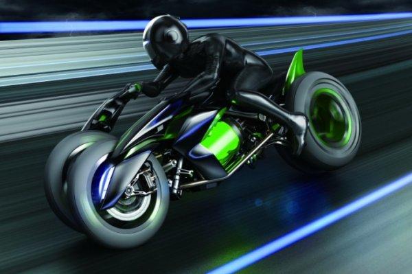 超酷概念车:三轮电动摩托川崎 J