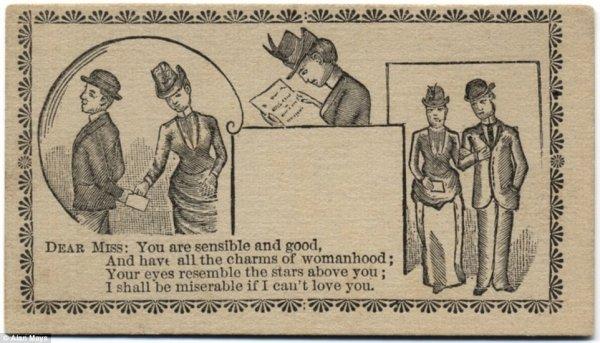 19世纪的调情卡片
