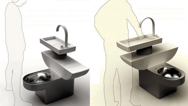 洗手池马桶二合一的设计
